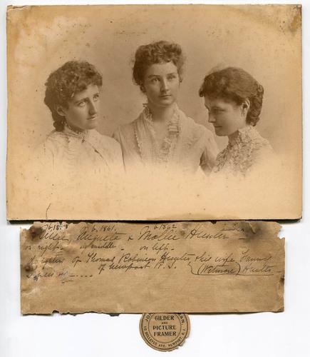 Hunter House_Mollie, Augusta and Billie Hunter_1900.jpg